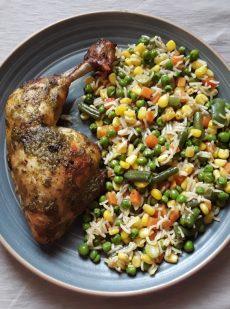 Chicken with Pesto and Veggies